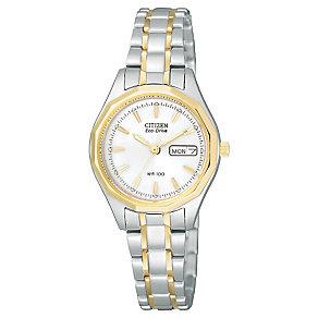 Citizen Eco-Drive Ladies' Two Tone Bracelet Watch - Product number 1047361
