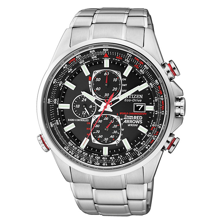 Citizen Eco Drive Red Arrows Men's Steel Bracelet Watch - Product number 1047418