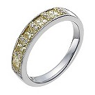 18ct white & yellow gold 55pt yellow & white diamond ring - Product number 1048848