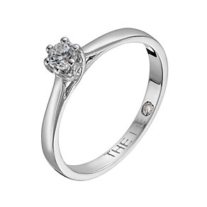 Leo Diamond 18ct white gold 15 point I-P1 solitaire ring - Product number 1049038