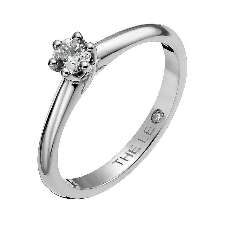 Leo Diamond platinum 0.25ct I-SI2 solitaire ring - Product number 1049410