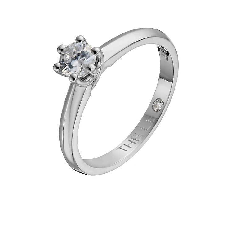Leo Diamond platinum 0.33ct I-SI2 solitaire ring - Product number 1049550