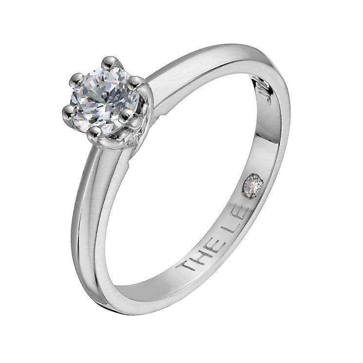 Leo Diamond platinum 0.40ct I-SI2 solitaire ring - Product number 1049682