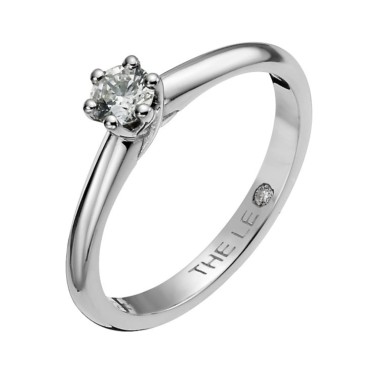 Leo Diamond 18ct white gold 0.25ct I-SI2 solitaire ring - Product number 1049828