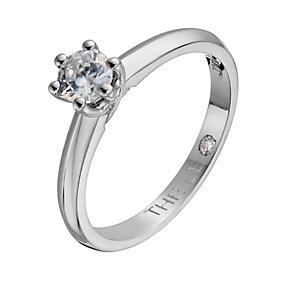 Leo Diamond 18ct white gold 0.33ct I-SI2 solitaire ring - Product number 1049941