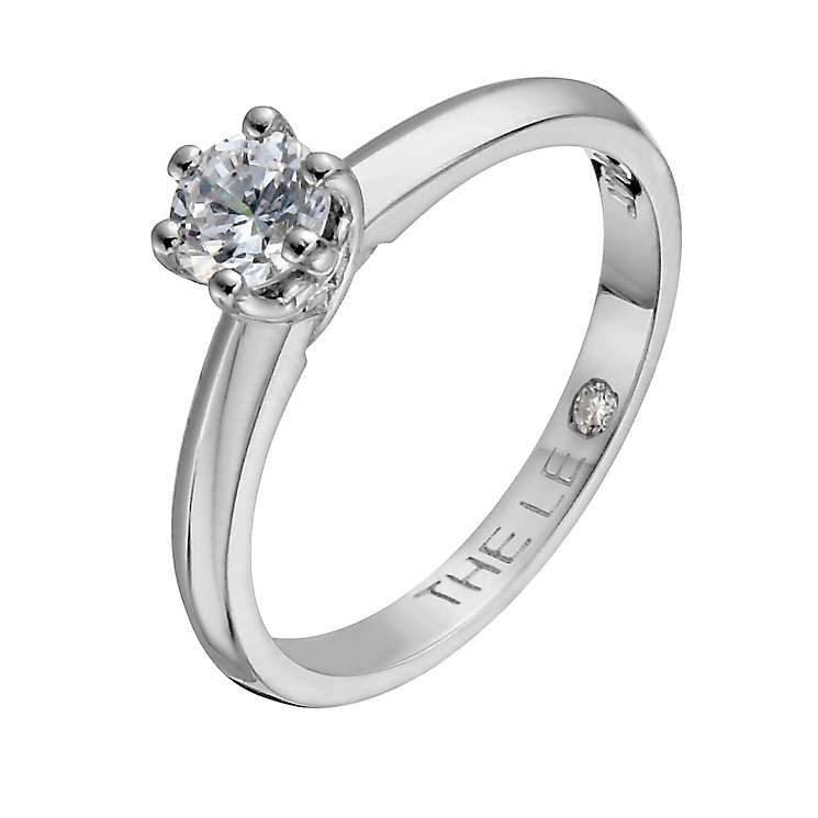 Leo Diamond 18ct white gold 0.40ct solitaire diamond ring - Product number 1050087