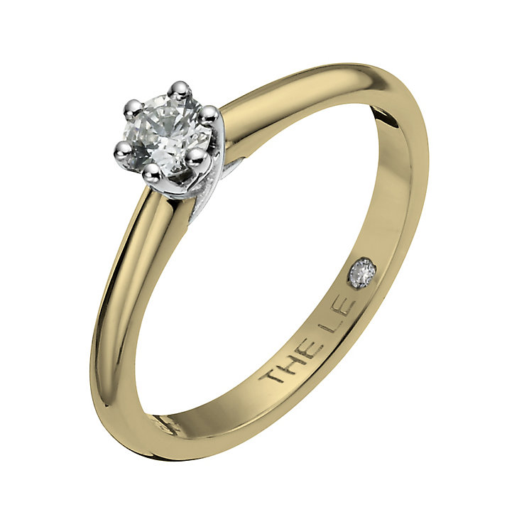 Leo Diamond 18ct yellow & white gold 0.25ct I-SI2 ring - Product number 1050214