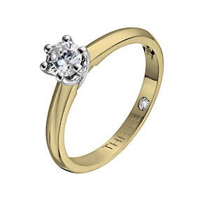 Leo Diamond 18ct yellow & white gold 0.33ct I-SI2 ring - Product number 1050354