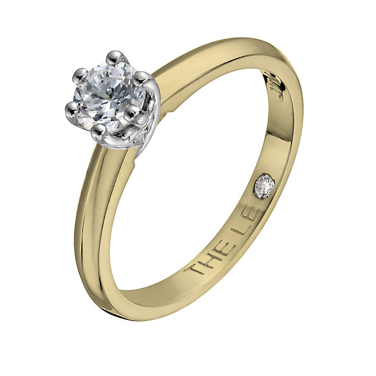 Leo Diamond 18ct yellow & white gold 0.40ct diamond ring - Product number 1050486