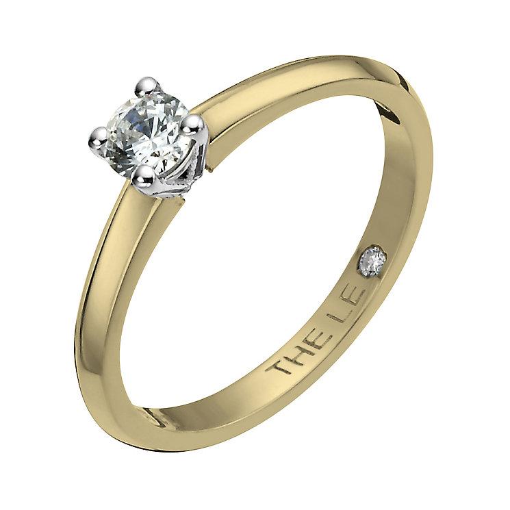Leo Diamond 18ct yellow & white gold 0.25ct I-I1 ring - Product number 1051008
