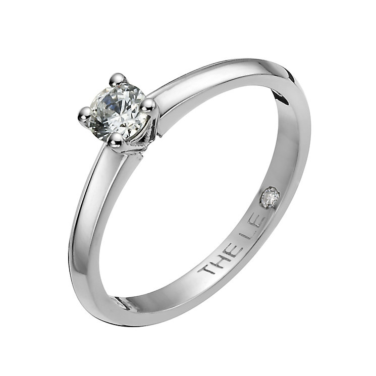 Leo Diamond Platinum 0.25ct I-I1 solitaire ring - Product number 1051393