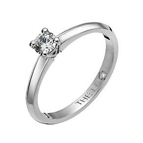 Leo Diamond Platinum 0.25ct I-I1 solitaire ring - Product number 1051393