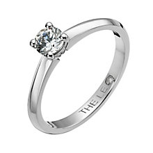 Leo Diamond Platinum 0.33ct I-I1 solitaire ring - Product number 1051520