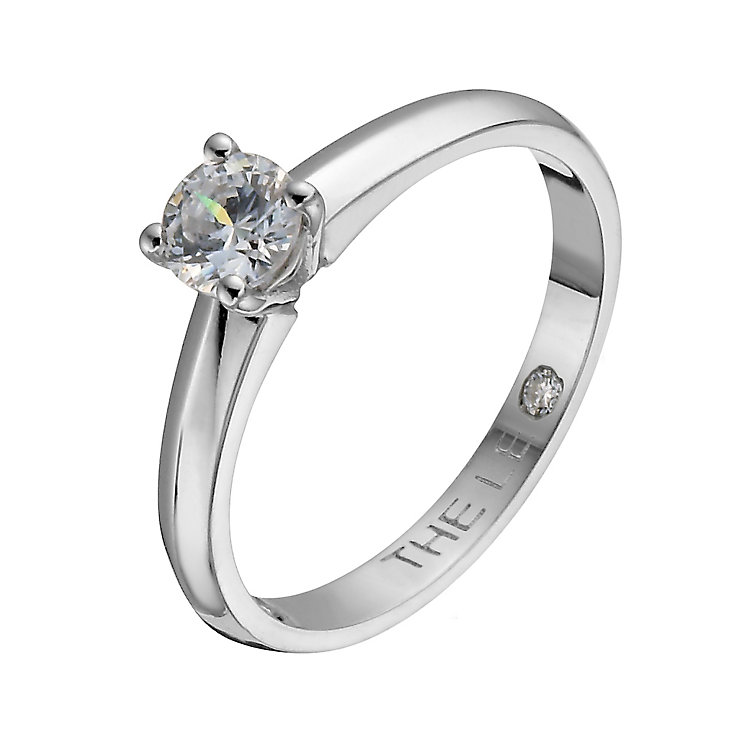 Leo Diamond platinum 0.40ct I-I1 solitaire ring - Product number 1051660