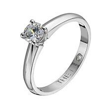 Leo Diamond platinum 0.40ct I-I1 solitaire ring - Product number 1051660