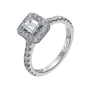 Neil Lane 14ct white gold 1.39ct diamond halo ring - Product number 1051903