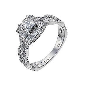 Neil Lane 14ct white gold 0.97ct diamond twist ring - Product number 1052179