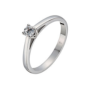 Tolkowsky 18ct white gold 0.15ct I-I1 diamond ring - Product number 1052446