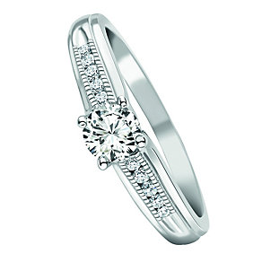 9ct White Gold 2/5 Carat Diamond Ring - Product number 1054333