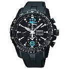 Seiko Sportura men's black ion-plated rubber strap watch - Product number 1055437