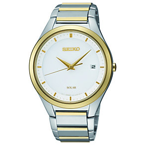 Seiko men's white dial two colour bracelet watch - Product number 1055518