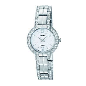 Seiko ladies' stone set stainless steel bracelet watch - Product number 1055550