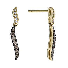 Le Vian 14ct gold 51pt Vanilla & Chocolate Diamond earrings - Product number 1055739