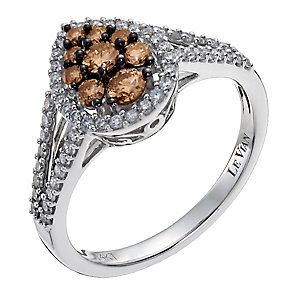 Le Vian 14ct white gold white & Chocolate Diamond ring - Product number 1056174