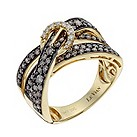 Le Vian 14ct gold 1.05 carat white & chocolate diamond ring - Product number 1056433