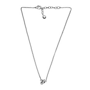 DKNY Stainless Cubic Zirconia Knot Pendant - Product number 1057383