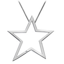 Hot Diamonds Sterling Silver Diamond Large Star Pendant - Product number 1057553