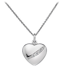 Hot Diamonds Sterling Silver Diamond Heart Pendant - Product number 1057618