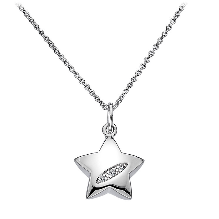 Hot Diamonds Sterling Silver Diamond Star Pendant - Product number 1057634