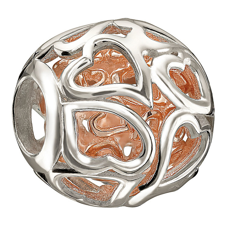Chamilia Captured Hearts sterling silver bead - Product number 1058452