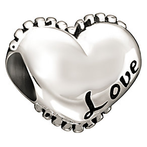 Chamilia Sterling Silver Love Heart Bead - Product number 1060449