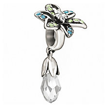 Chamilia Sterling Silver Briolette Lily Blue Crystal Bead - Product number 1060562