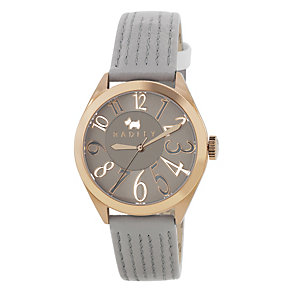 Radley Ladies' Gold-Plated Grey Leather Strap Watch - Product number 1062085