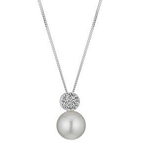Radiance Swarovski Elements Pave Crystal Pearl Pendant - Product number 1063618