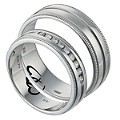 Commitment Sterling Silver 1/6 Diamond Wedding Set - Product number 1063863