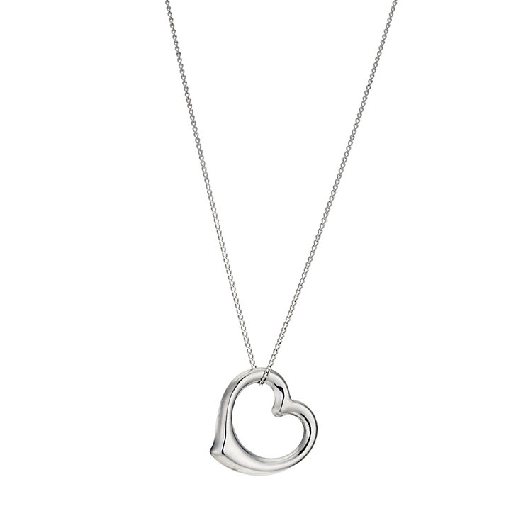 "9ct White Gold 18"" Swinging Heart Pendant - Product number 1063960"