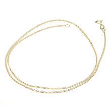 "9ct Yellow Gold 18"" Solid Curb Chain Necklace - Product number 1065556"