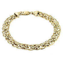 "9ct Yellow Gold 7.5"" Fancy Panther Chain Bracelet - Product number 1065637"