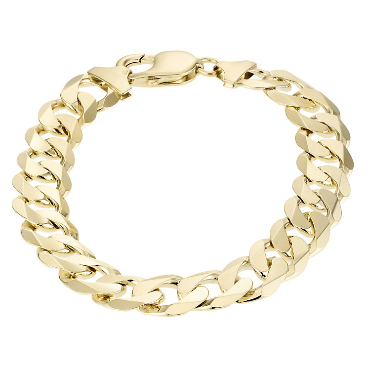 "9ct Yellow Gold 8.5"" Solid Curb Bracelet - Product number 1065645"