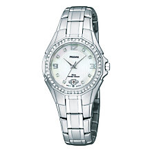 Pulsar Ladies' Steel With Swarovski Crystals Bracelet Watch - Product number 1065750
