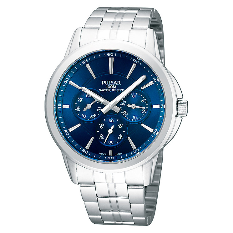 Pulsar Blue Dial Stainless Steel Bracelet Watch - Product number 1065769