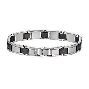 Cerruti stainless steel & black ceramic bracelet - Product number 1066900