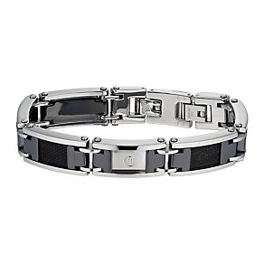 Cerruti stainless steel & black ceramic bracelet - Product number 1066919