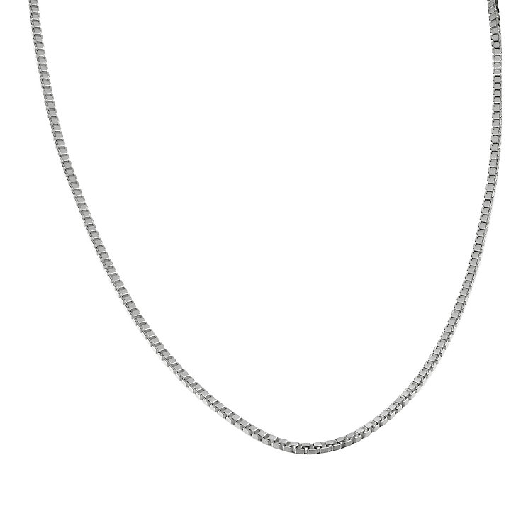 Sterling Silver 18 Quot Box Chain Necklace H Samuel
