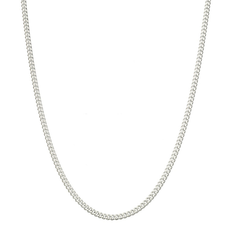 "Sterling Silver 20"" Curb Chain Necklace - Product number 1070681"