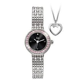 Limit Ladies' Stainless Steel Bracelet Watch & Pendant Set - Product number 1074520